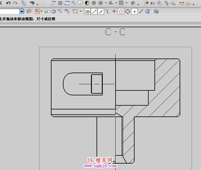 cad圆柱体及半球体-里半剖视图标注圆柱直径不知怎么标 在autoCAD里这种标注很简单 图片